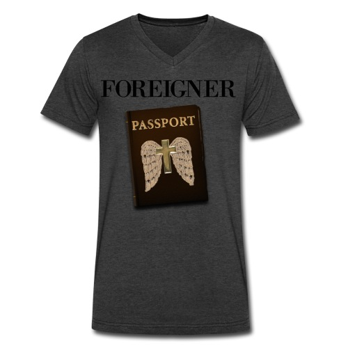 Foreigner Tee - Mens - Men's V-Neck T-Shirt by Canvas
