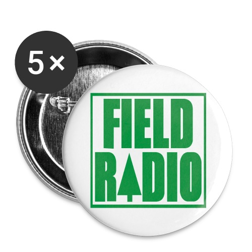 Field Radio 1 (25mm) Button (5 Pack) - Small Buttons