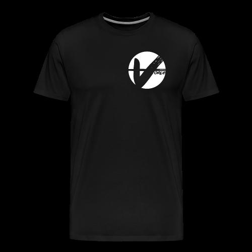 Black Tee - White Logo - Men's Premium T-Shirt
