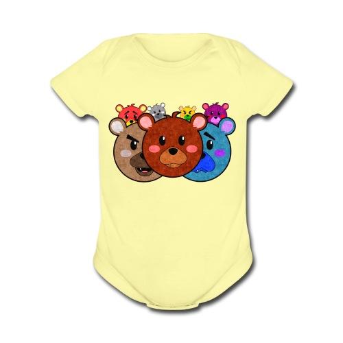 Bears One Piece - Organic Short Sleeve Baby Bodysuit