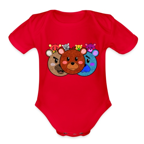 Bears One Piece - Organic Short Sleeve Baby Bodysuit