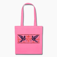 Couple cross-stitch Pigeons Bags & backpacks