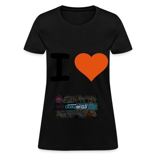 Camisas Feminina - I love G3 - Women's T-Shirt