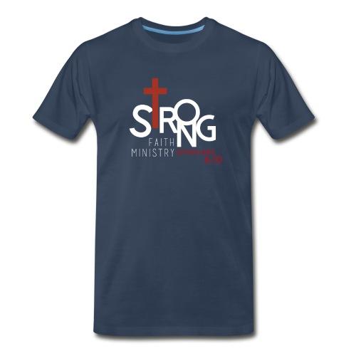 Men's Strong Faith Navy T-Shirt - Men's Premium T-Shirt