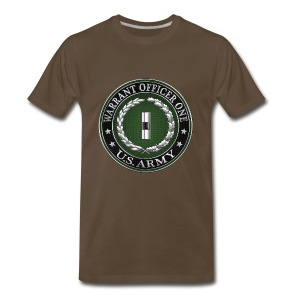 U.S. Army Warrant Officer One (WO1) Rank Insignia  - Men's Premium T-Shirt