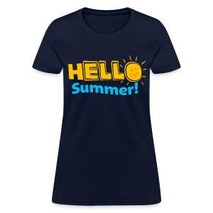 Ladies Hello Summer - Women's T-Shirt