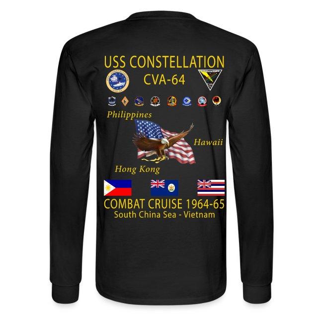 USS CONSTELLATION CVA-64 COMBAT CRUISE 1964-65 CRUISE SHIRT - LONG SLEEVE