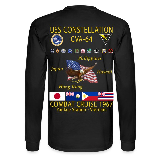 USS CONSTELLATION CVA-64 COMBAT CRUISE 1967 CRUISE SHIRT - LONG SLEEVE