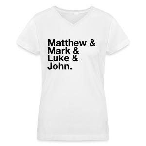 The Gospels- Women's Tee - Women's V-Neck T-Shirt