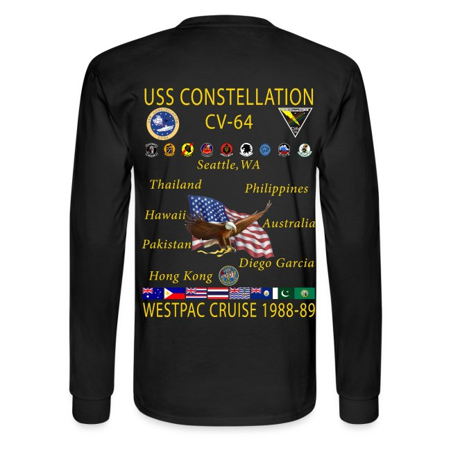USS CONSTELLATION CV-64 WESTPAC  1988-89 CRUISE SHIRT-LONG SLEEVE