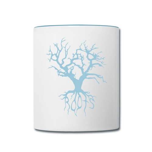 Coda Cup Tree/Roots (Blue) - Contrast Coffee Mug