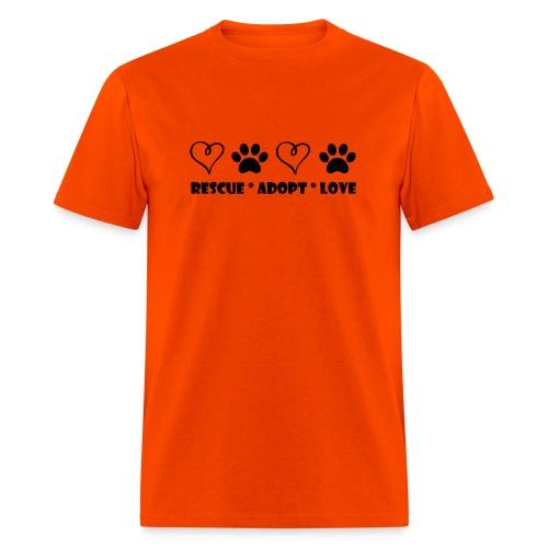 Rescue Adopt Love - Mens T-shirt - Men's T-Shirt