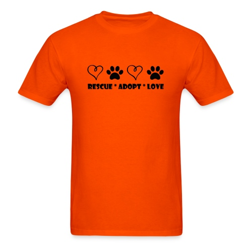 Rescue Adopt Love - Mens T-shirt - Men's T-Shirt