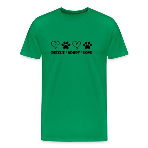 Rescue Adopt Love - Mens Big & Tall T-shirt - Men's Premium T-Shirt
