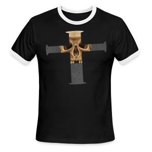 Skull Cross - Men's Ringer T-Shirt