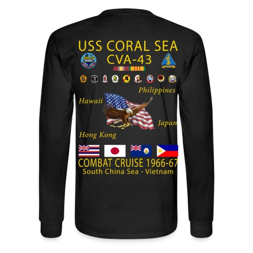 USS CORAL SEA 1966-67 CRUISE SHIRT - LONG SLEEVE - Men's Long Sleeve T-Shirt