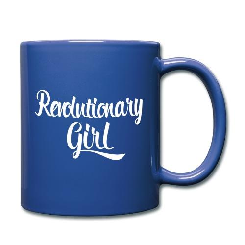 Revolutionary Girl Blue CC Latte Mug - Full Color Mug