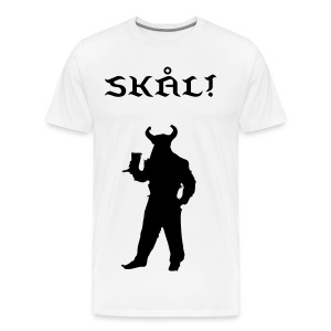 Men's Premium T-Shirt - viking,skal,horn,drinking,drink