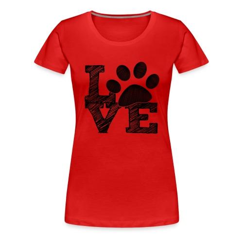 LOVE - Womens Plus Size T-shirt - Women's Premium T-Shirt