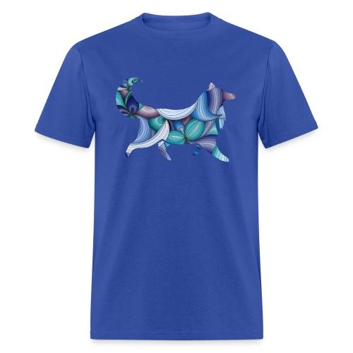 Psychedelic Collie - Mens T-shirt - Men's T-Shirt