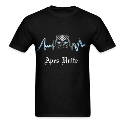 Apes Unite Black T-Shirt - Men's T-Shirt