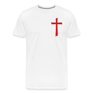 God's Nation Red Cross/White T'Shirt (Men's) - Men's Premium T-Shirt
