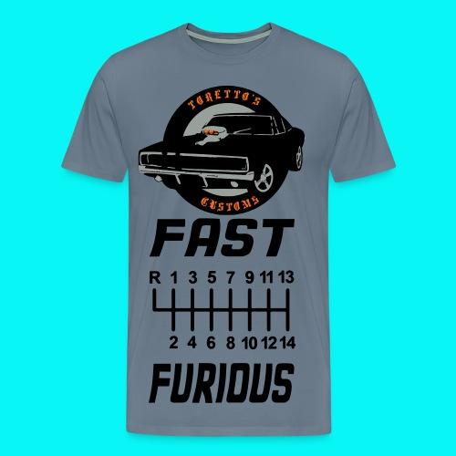 fast shifter furious shirt - Men's Premium T-Shirt