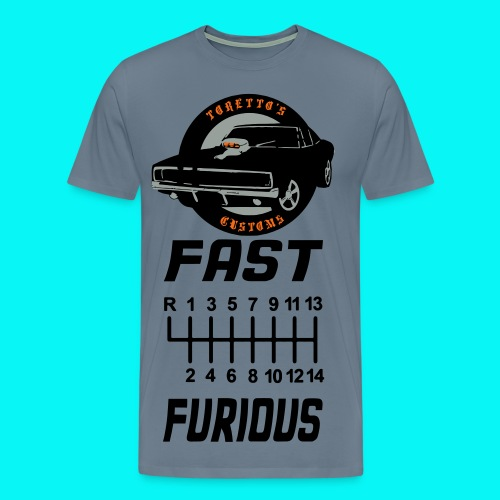 fast shifter furious shirt - Men's Premium T-Shirt