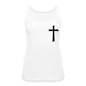 God's Nation Black Cross Tank (Women's) - Women's Premium Tank Top