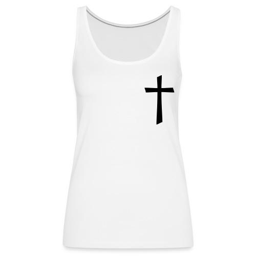 God's Nation Black Cross Tank (Women's) - Women's Premium Tank Top