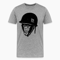 Monkey design print t-shirt