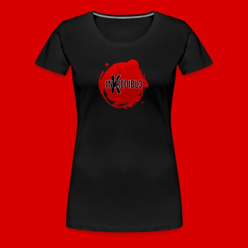 Women's Premium 1NKREDIBL3 Bloodshot Logo Tee - Women's Premium T-Shirt