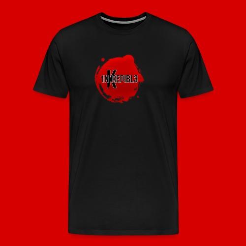Men's Premium 1NKREDIBL3 Bloodshot Logo Tee - Men's Premium T-Shirt