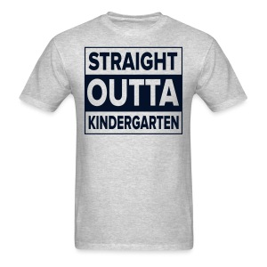 Men's BLACK GLITTER Straight Outta Kinder - Men's T-Shirt
