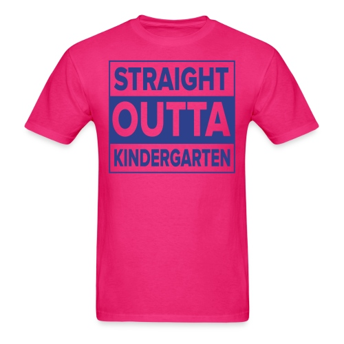 Men's BLUE  flat Straight Outta Kinder - Men's T-Shirt