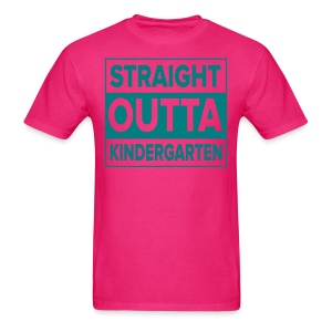 Men's TEAL flat Straight Outta Kinder - Men's T-Shirt