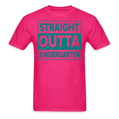 Men's TEAL flat Straight Outta Kinder - Men's T-Shirt