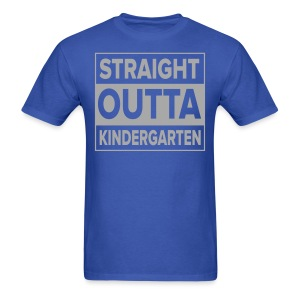 Men's SILVER GLITTER Straight Outta Kinder - Men's T-Shirt