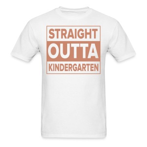 Men's PINK GLITTER Straight Outta Kinder - Men's T-Shirt