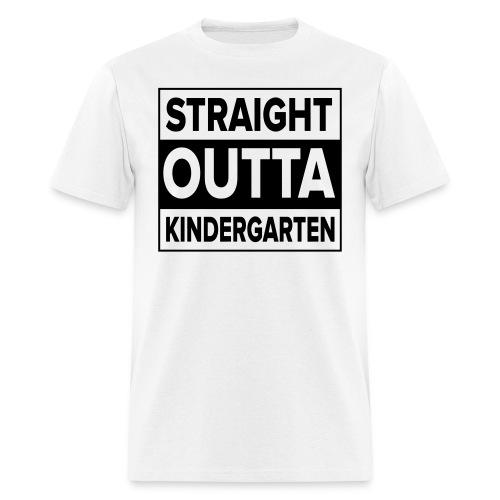 Men's BLACK flat Straight Outta Kinder - Men's T-Shirt