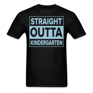 Men's light BLUE  flat Straight Outta Kinder - Men's T-Shirt