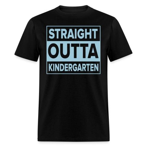Men's light BLUE  flat Straight Outta Kinder - Men's T-Shirt