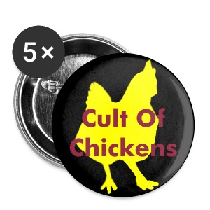 Cult Of Chickens Pin - Small Buttons