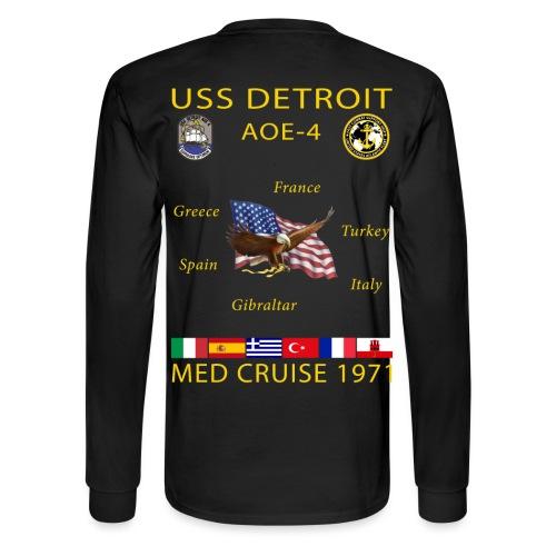 USS DETROIT AOE-4 1971 CRUISE SHIRT - LONG SLEEVE - Men's Long Sleeve T-Shirt