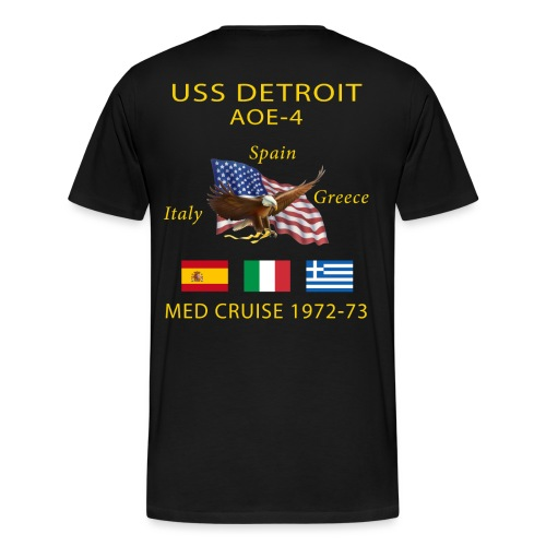 USS DETROIT AOE-4 1972-73 CRUISE SHIRT - Men's Premium T-Shirt