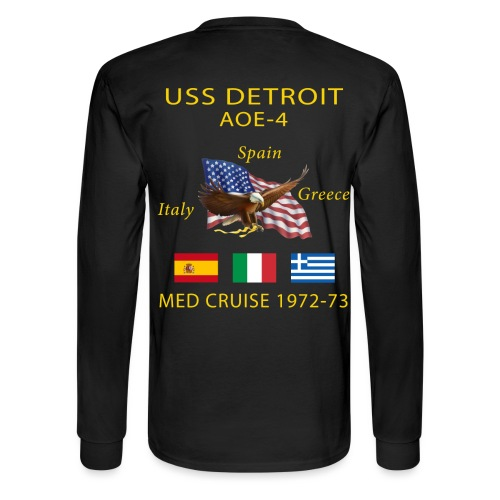 USS DETROIT AOE-4 1972-73 CRUISE SHIRT - LONG SLEEVE - Men's Long Sleeve T-Shirt
