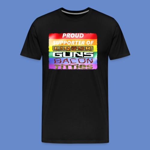 I support lgbt - Men's Premium T-Shirt