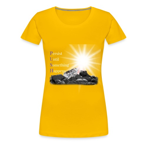 PUSH Yellow T-Shirt - Women's Premium T-Shirt