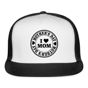 I Love Mom Mother's Day Seal Sportswear - Trucker Cap
