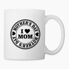 I Love Mom Mother's Day Seal Mugs & Drinkware